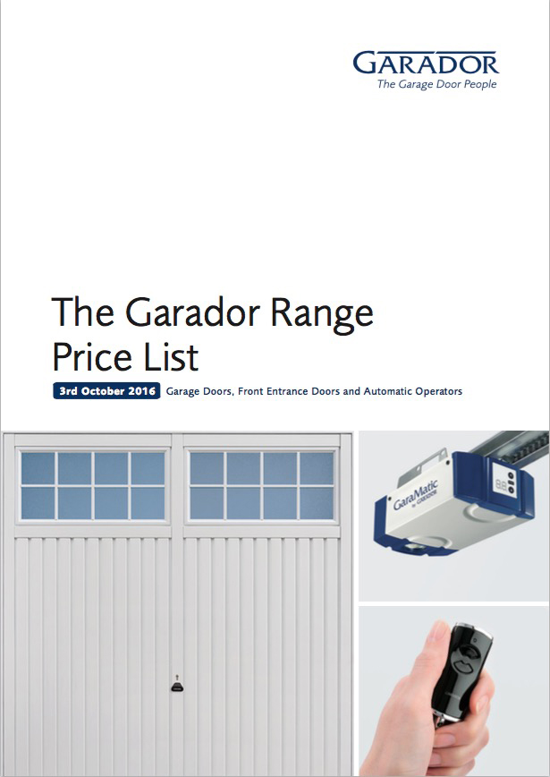 The Garador Range Price List